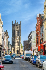 St Luke's Church from Bold Street (Bob Edwards Photography - Picture Liverpool) Tags: boldstreet pictureliverpool merseyside bobedwardsphotography church memorial blitz buildings architecture bluesky spring citycentre cars sky blue