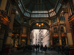 Just a market (Мaistora) Tags: market old historic traditional iconic classic leadenhall covered butchers grocers food daily trade commerce converted conversion restaurants pubs bars cafes catering office workers clerks businessmen businesswomen businesspeople bankers insurers brokers city cityoflondon squaremile finance banking insurance exchange stockmarket insurancemarket risk lloyds bishopsgate fenchurch monument landmark canteen shopping mall crowd busy leica dlux typ109 lightroom luminar skylights windows roofwindows lanterns lamps light indoor inside decoration ornaments opulent