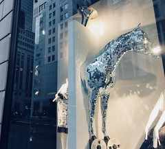 2019 The 2nd Best Easter Window This Year 6497 (Brechtbug) Tags: 2019 the 2nd best easter window this year decorated with disco glitter horse tape recording machine bergdorf goodman department store 5th avenue 58th street nyc new york city fashion april 04202019