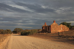 Red Creek Road (Darren Schiller) Tags: australia abandoned building derelict disused decaying deserted dilapidated evening farming farmhouse heritage house cottage clouds rural rustic road landscape old southaustralia