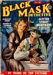 Black Mask Detective, Vol. 34, No. 3 (May 1950).  Cover Art by Norman Saunders. (lhboudreau) Tags: pulpart paperback paperbacks vintagepaperback vintagepaperbacks paperbackcover paperbackcovers vintagepaperbackcover vintagepaperbackcovers paperbackart coverart vintagepaperbackart paperbackbook paperbackbooks periodical volume34number3 1950 may1950 mystery detective mysterynovel mysterystory hardboileddetective hardboiledmystery novel story pulp pulps magazine magazines pulpmagazine pulpmagazines pulpcover pulpcovers vintagepulp mysterythriller crime paperbackcrime paperbackcrimes retrocover retrocovers retro mysterystories hardboileddetectivestories stories hardboiledfiction gga goodgirlart brunette sexybookcover sexybookcovers sexy babe illustration illustrations drawing drawings magazinecover magazineart blackmask mask gun normansaunders popularpublication blackmaskdetective pulpfiction glitterstreetnightmare robertcdennis