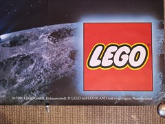 Giant Lego Classic Space advertising poster of 6980, Galaxy Commander, 1984. Detail (Fantastic Brick) Tags: 1984 set 6980 galaxycommander legoland giant poster advertising space classic lego