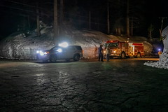 LC with Truckee Fire looking for propane leak on Kilborn Dr in Serene Lakes-01 4-16-19 (lamsongf) Tags: snow winter serene lakes donner summit