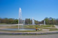 Boy and Fountain (suzanne~) Tags: park sun boy fountain bavaria schleissheim schlossschleisshiempark lensbaby sol45