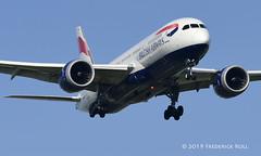 British Airways B787 ~ G-ZBJG (© Freddie) Tags: londonheathrow poyle heathrow lhr egll 09l arrivals britishairways ba boeing b787 b788 gzbjg fjroll ©freddie