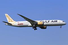 Gulf Air  Boeing 787-9 Dreamliner A9C-FC (widebodies) Tags: london heathrow lhr egll widebody widebodies plane aircraft flughafen airport flugzeug flugzeugbilder gulf air boeing 7879 dreamliner a9cfc