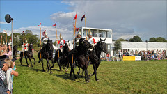Musical Ride I (meniscuslens) Tags: musical ride household cavalry horse soldier armour lance pennant event arena bucks county show buckinghamshire aylesbury weedon grass sky clouds