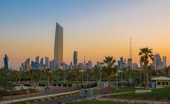 Kuwait City (\Nicolas/) Tags: kuwait city gulf persian koweït skyscrapper tower towers building dusk sky trees road al hamra skyline deconstructivism
