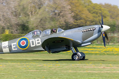 NH341/G-CICK Spitfire T9 (amisbk196) Tags: unitedkingdom aviation flickr amis airfield headcorn 2019 kent uk lashenden nh341 gcick spitfire t9