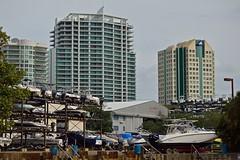 Condos & Boats (ACEZandEIGHTZ) Tags: coconutgrove buildings nikon d3200 miami sky structures marina boats