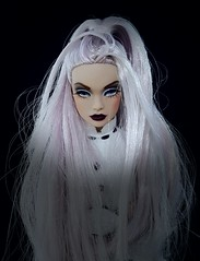 Madhouse! Poppy Parker (ozthegreatandpowerful) Tags: poppy parker custom ooak reroot repaint blank returnto misty hollows madhouse purplehair integrity toys fashion royalty