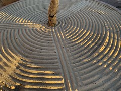 Sand and Shadow (remiklitsch) Tags: circles lines abstract pattern landscape iphone lasventanasalparaiso cabo 3 mexico art morning tree shadow sand