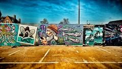 Cheltenham Artists (joshdgeorge7) Tags: cheltenham artists graffiti sony sunshine easter gloucestershire colours fishing fish tags street art sketch car park brewery corner