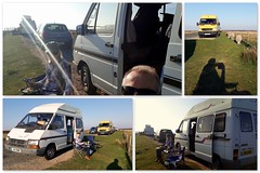 Supper and sunset.. (Mike-Lee) Tags: supperandsunset peakdistrict derbyshire van campervan renault renaulttrafict1100 motohome vanlife thedale collage picasa sunset panos