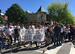 Memorial for Dave Salovesh (Mr.TinDC) Tags: dc washingtondc sign protest bikedc dave memorial cycling biking rip friends