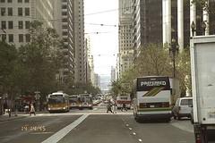 Trolley Busses (moacirdsp) Tags: trolley busses financial district san francisco california usa 1995