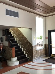 Essex House (jericl cat) Tags: essex house artdeco architecture miami beach style design building interior staircase banister stairway
