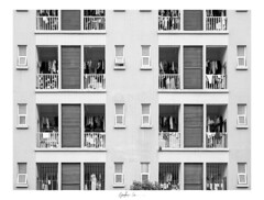 Dorms (g-liu) Tags: 2019 sony a6500 china sichuan chengdu dorm dormitory university college windows brick blackandwhite monochrome architecture framed clothes 宿舍 成都 四川 中国 campus bw