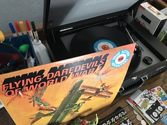 Flying Daredevils record (artnoose) Tags: wwi fighter pilots pilot vintage record vinyl player flying daredevils planes