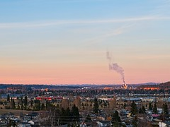 Prince George Sunset (Kevin Gagel) Tags: princegeorge prince george sunset pink rocky mountain rockymountains canfor husky industrial