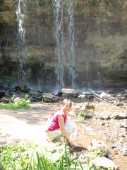 Ruth's Visit in June 2009 (Pictures by Ann) Tags: ruthsvisit ruth 2009 june2009 osceola wisconsin wi waterfall sophia
