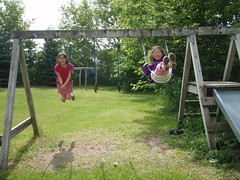 Ruth's Visit in June 2009 (Pictures by Ann) Tags: ruthsvisit ruth 2009 june2009 swinging swing swingset fun playing play outdoors sophia