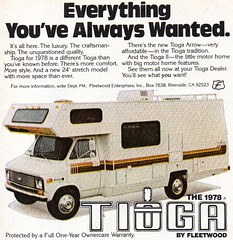 1978 Tioga By Fleetwood Mobile Motor Home USA Original Magazine Advertisement (Darren Marlow) Tags: 1 7 8 9 19 78 1978 t tioga f fleetwood m mobile motor home c car cool collectible collectors classic a automobile u s us usa united states american america 70s