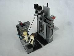 75229 - grapnel use (fdsm0376) Tags: lego set review 75229 death star escape wars leia princess organa luke skywalker stormtrooper mouse droid