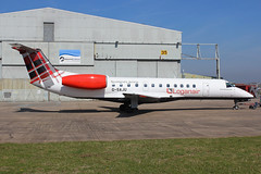 Loganair Embraer ERJ-135ER G-SAJU EMA 20/04/19 (bhx_flights) Tags: bmi bmiregional loganair embraer erj135 airport ema egnx eastmidlands eastmidlandsairport