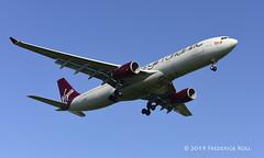 Virgin Atlantic A330 ~ G-VRAY (© Freddie) Tags: londonheathrow poyle heathrow lhr egll 09l arrivals virgin virginatlantic airbus a330 a333 named misssunshine gvray fjroll ©freddie