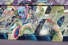 URBAN ART ALONG THE DANUBE CANAL IN VIENNA (artofthemystic) Tags: vienna danubecanal austria urbanart graffiti
