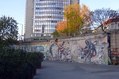 URBAN ART ALONG THE DANUBE CANAL IN VIENNA (artofthemystic) Tags: vienna danubecanal austria bars restaurants graffiti urbanart