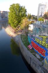 HERRMANNS STRAND BAR (artofthemystic) Tags: vienna danubecanal austria bars restaurants graffiti urbanart