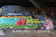 URBAN ART ALONG THE DANUBE CANAL IN VIENNA (artofthemystic) Tags: austria danubecanal vienna urbanart graffiti bridge