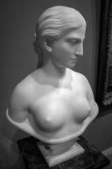 Luminous Being (BenBuildsLego) Tags: california marble bust hiram powers female form art museum saam smithsonian american sculpture statue escultura skulptur sony a6000 nude black white bw neoclassical classical