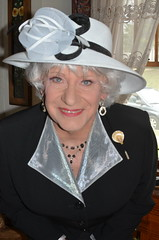 In My Easter Bonnet (Laurette Victoria) Tags: suit necklace hat silver laurette woman lady easter