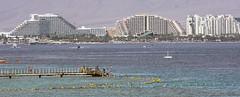 (Cindy en Israel) Tags: paisaje muelle hoteles agua mar acuario ciudad eilat israel viaje paseo tour turismo arquitectura architecture