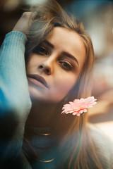 Flowers (AlexanderHorn) Tags: portrait portraiture beauty woman eyes romantic bokeh prism flower flowerpower