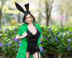 Easter Parade (edwicks_toybox) Tags: 16scale hotplus tbleague bunnyears corset dress easter femaleactionfigure highheels phicen raksa seamlessbody stockings tencent verycool