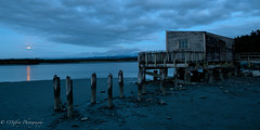 Blood Moon Rising (OJeffrey Photography) Tags: okaritolagoon mttasman mtcook newzealandalps lagoon fullmoon bloodmoon twilight wharf abandoned decay beach reflection panorama pano ojeffreyphotography ojeffrey jeffowens nikon d850