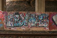Fevoe (NJphotograffer) Tags: graffiti graff new jersey nj trackside rail railroad bridge fevoe clout gtu crew