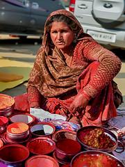 Sindoor Ma. (Prabhu B Doss) Tags: prabhubdoss kumbhmela prayagraj sindoor streetphotography travelphotography portrait woman lady market mela kumbh fujifilm gfx50s gf3264mm