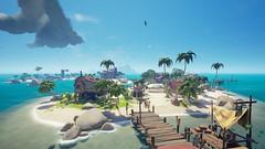 Sea of Thieves Wallpaper (Skyvlader) Tags: sea thieves rare game photography screenshoots gaming captures capture career corsair pirates island dock ocean gallion