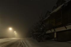 La niebla - The fog (jmpastorg) Tags: niebla fog caminos street oscuridad noche night nocturna nieve snow sierranevada granada españa spain 2019 primavera
