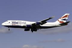 British Airways 747-400 G-CIVC at London Heathrow LHR/EGLL (dan89876) Tags: british airways boeing 747 queen one world livery 747400 b744 gcivc london heathrow international airport 27l lhr egll