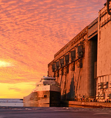 TBay Pink (f/ames) Tags: thunderbay ontario canada freighter loading sky beautiful colors lakesuperior canon5d mkii industrial