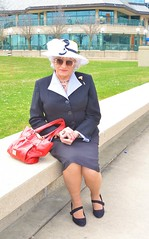 Nothing To See Here . . . (Laurette Victoria) Tags: woman lady laurette downtown milwaukee suit purse hat easter sunglasses