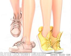 REIGN.- GLITTER LOLA BUNNY SNEAKERS (REIGN♥) Tags: reign teamreign secondlife shoes slink summer sl sneakers maitreya magic mesh belleza body groupgift gift kenadeecole kenadee kenadeereign