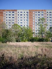 Der Block. / 22.04.2019 (ben.kaden) Tags: berlin hohenschönhausen neuhohenschönhausen grevesmühlenerstrase architekturderddr architektur plattenbau industriellerwohnungsbau 2019 22042019