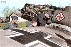 Me-109 ground crew (DREADNOUGHT2003) Tags: warplanes warplane warproduction fighters fighter fighterbombers bombers bomber luftwaffe luftwaffee wwii wwiibombers aircraft airplanes